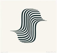 untitled [winged curve] by bridget riley